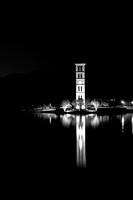 Furman University Bell Tower at night